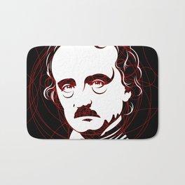 Edgar Allan Poe Circles Portrait Bath Mat