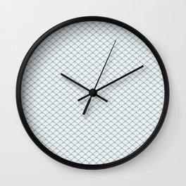 Fish Scale Pattern Wall Clock