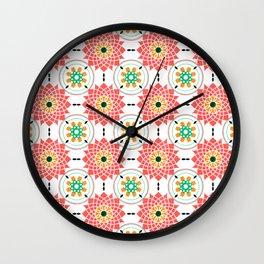 morrocan pink mandala pattern no4 Wall Clock