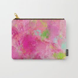Pink neon green abstract look Carry-All Pouch