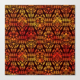 Afican Mask pattern Canvas Print