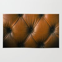 leather Area & Throw Rugs featuring Chesterfield Leather by djoek