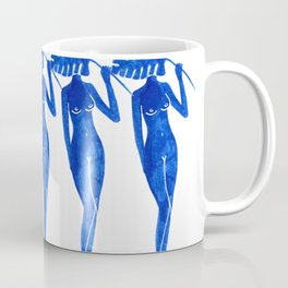 Five Blue Ladies Coffee Mug