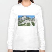 italian Long Sleeve T-shirts featuring Italian alps by Carlo Toffolo