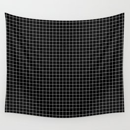 Black Grid Wall Tapestry