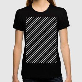 Diagonal Lines (White/Black) T-shirt