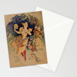 Comedy Theater 1900 by Jules Chéret Stationery Cards