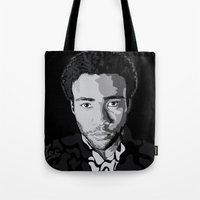 childish gambino Tote Bags featuring Gambino by Tecnificent