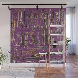 Purple Tools Wall Mural