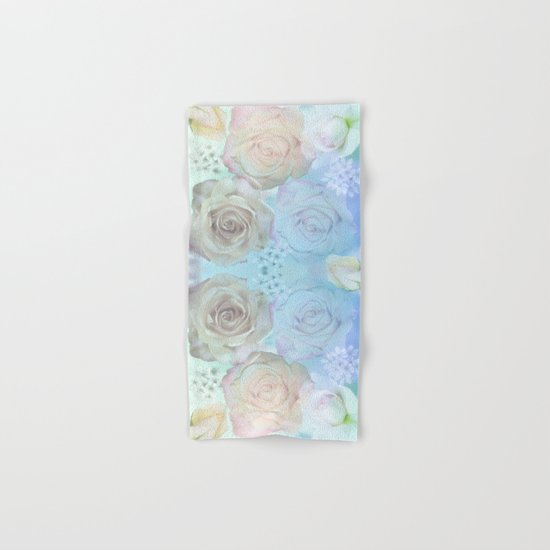 Romantic roses and tiny flowers in pastels Hand & Bath Towel