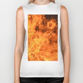 fire, as if painted Biker Tank
