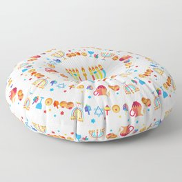 Happy Hanukkah Holiday Pattern Floor Pillow