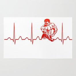 BODYBUILDING HEARTBEAT Rug