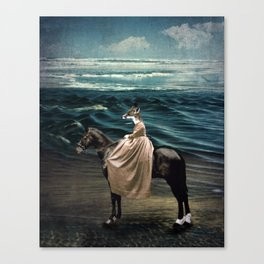 The Fox and the Sea Canvas Print