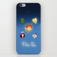 peter pan iPhone & iPod Skins featuring Peter Pan by UniverseSunny