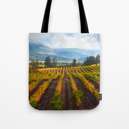 Autumn Vineyard Vista Tote Bag