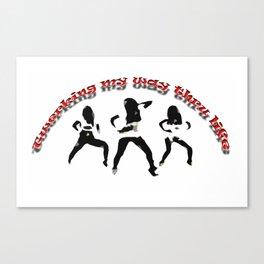 Twerking my way Canvas Print