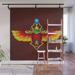 Ancient Egyptian Scarab Design 1 Wall Mural