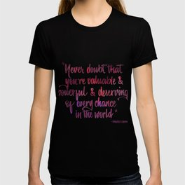 Never doubt pink T-shirt