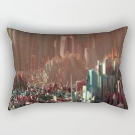 Cityscape scenic aerial view beautiful painting Rectangular Pillow