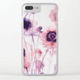FLOWER PATTERN10 Clear iPhone Case