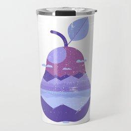 Vintage Panorama Pear Travel Mug