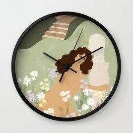 Dreaming of perfect man Wall Clock