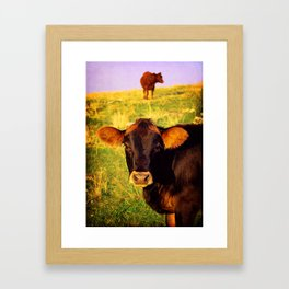 Eat More Chicken Framed Art Print