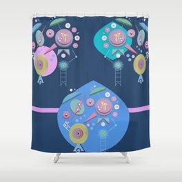 Integral We Machine 3D Geometric design Shower Curtain