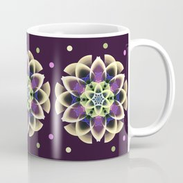 Fantasy flower on a purple background Coffee Mug