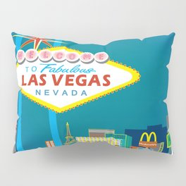 Las Vegas, Nevada - Skyline Illustration by Loose Petals Pillow Sham
