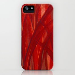 Grassy Grass Red iPhone Case