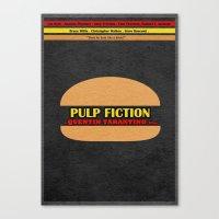pulp fiction Canvas Prints featuring Pulp Fiction by Ayse Deniz