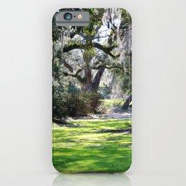 Oak Tree Shadows iPhone Case