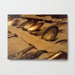 Antique Spoons Metal Print