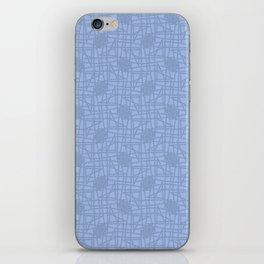 Dusty Blue scribble knots pattern iPhone Skin