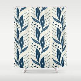 Indigo Leaves #society6 #pattern #indigo Shower Curtain