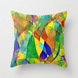 Strained Glass Throw Pillow