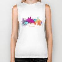 minneapolis Biker Tanks featuring Minneapolis skyline watercolor by jbjart