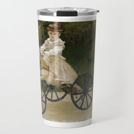 Monet, Jean Monet on his Hobby Horse, 1872 Travel Mug