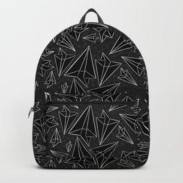 Paper Airplanes Black Backpack