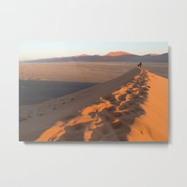 First Light on Dune 45 Metal Print