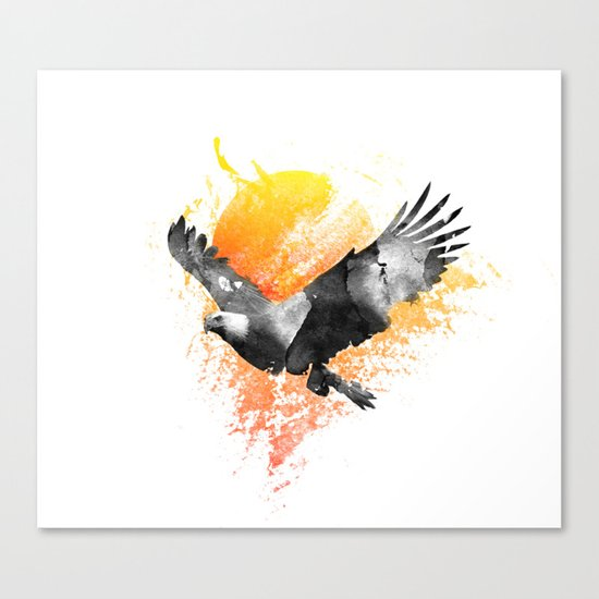 The Eagle that touched the Sun Canvas Print