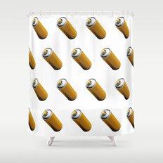 Golden Spray Can Pattern Shower Curtain