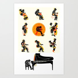 MUSICAL MOVEMENT Art Print