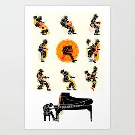 MUSICAL MOVEMENT Art Print