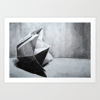 origami Art Prints featuring ORIGAMI by The Traveling Catburys