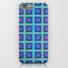 Grey Heart Stamps iPhone Case