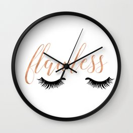Flawless - White and Rose Gold Wall Clock