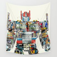 transformers Wall Tapestries featuring modern prime by bri.buckley